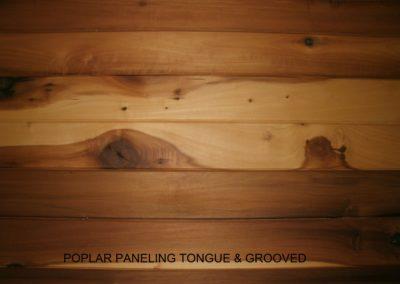 Poplar Paneling