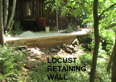 Locust Retaining Wall