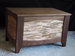 Ambrosia Maple and Walnut Blanket Chest by D. Burke Designs