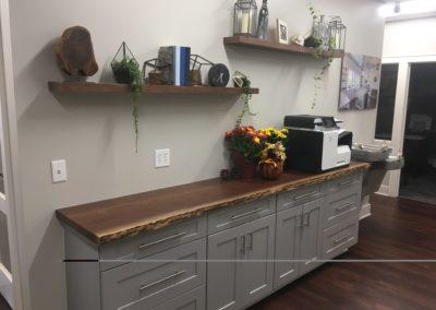 Walnut Countertop and Shelves by Buchanan Construction