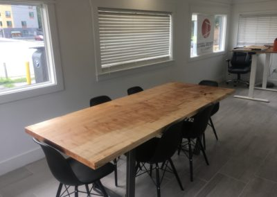Single Slab Ambrosia Maple Conference Table by Steel Root Builders