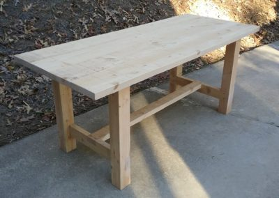 Hemlock Farmhouse Dining Table by Mark Gouge