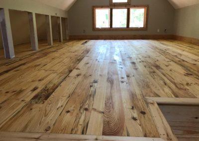 White Pine T and G Flooring