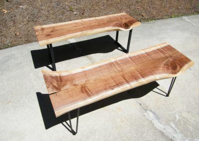 Walnut Slab Coffee Tables by Mark Gouge