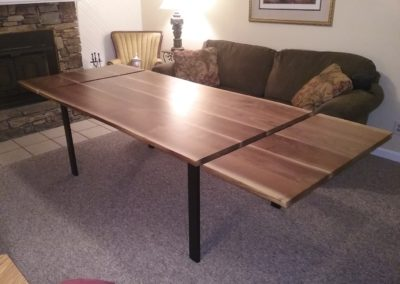 Walnut Dining Table With Removable Extensions by Mark Gouge