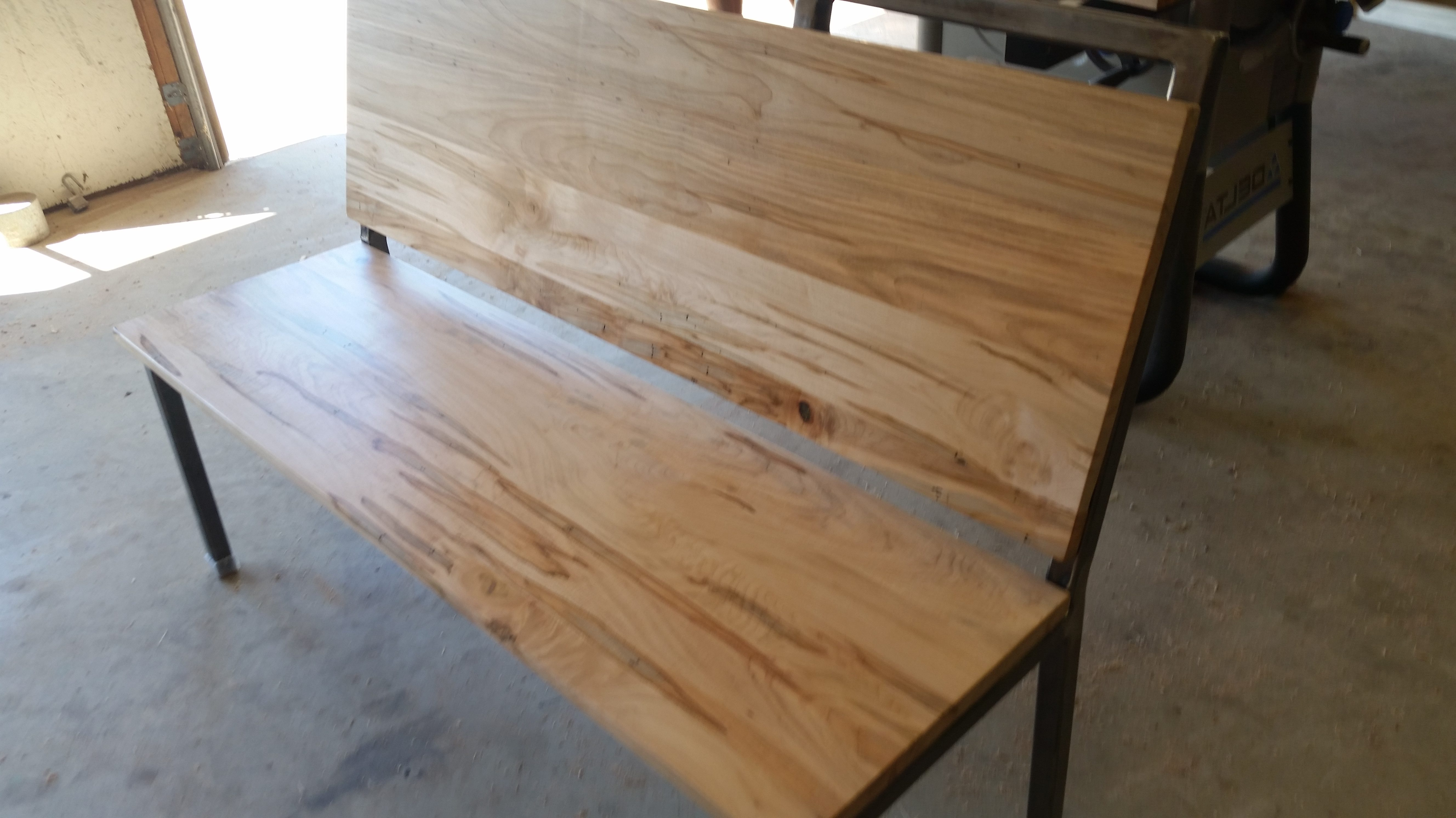 Ambrosia Maple Bench By Coastal Live Edge Custom Furniture Of Wilmington Nc