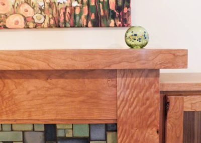Cherry Fireplace by Artisan Built-Ins